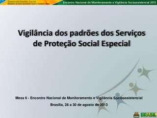 Vigilância dos padrões dos Serviços de Proteção Social Especial