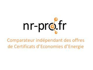 Comparateur indépendant des offres de Certificats d'Economies d'Energie