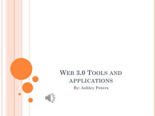Web 3.0 Tools and applications