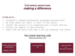 21st century careers work making a difference