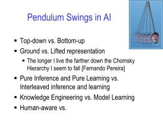 Pendulum Swings in AI