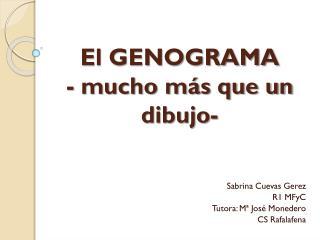 El GENOGRAMA - mucho más que un dibujo-