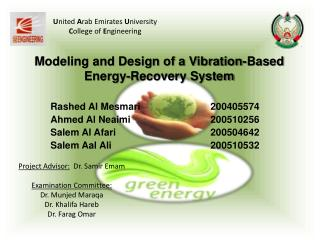 Modeling and Design of a Vibration-Based Energy-Recovery System