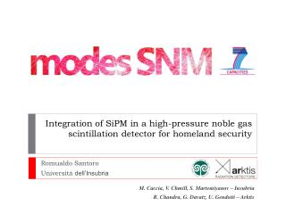 Integration of  SiPM  in a high-pressure noble gas scintillation detector for homeland security