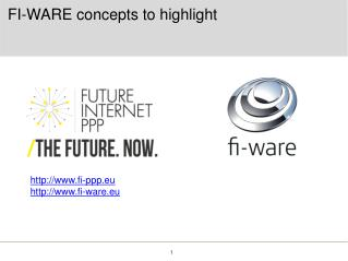 FI-WARE concepts to highlight