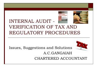 INTERNAL AUDIT - VERIFICATION OF TAX AND REGULATORY PROCEDURES