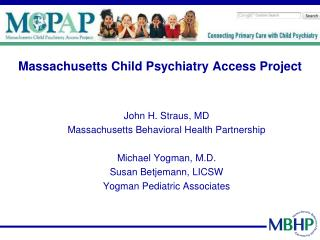 Massachusetts Child Psychiatry Access Project