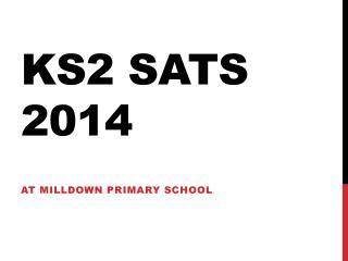 KS2 SATS 2014