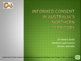 Informed consent in  australia's  northern territory