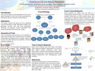 Trust In Social and Sensor Networks
