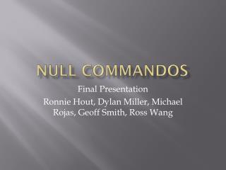 Null commandos