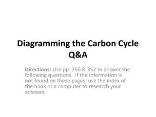 Diagramming the Carbon Cycle Q&A