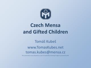 Czech Mensa and  Gifted Children