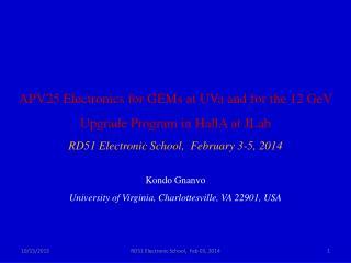 Kondo  Gnanvo University of Virginia, Charlottesville, VA 22901, USA