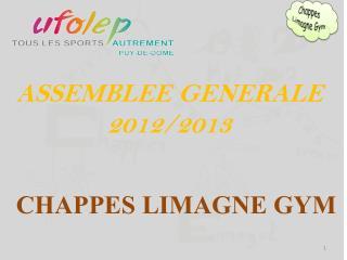 ASSEMBLEE GENERALE 2012/2013