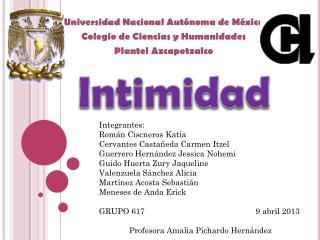Universidad Nacional Autónoma de México Colegio de Ciencias y Humanidades  Plantel  Azcapotzalco