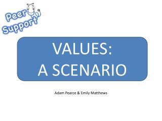 VALUES: A SCENARIO