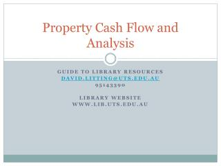 Property Cash Flow and Analysis