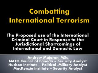 Combatting International Terrorism