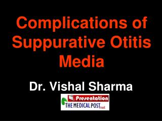 Complications of Suppurative Otitis Media