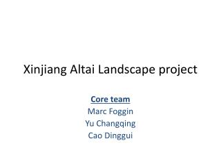 Xinjiang Altai Landscape project