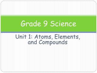 Grade 9 Science