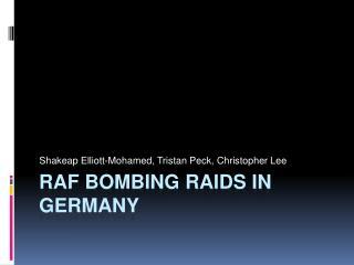 RAF Bombing Raids in Germany