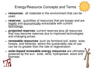 Energy/Resource Concepts and Terms