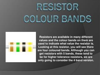 Resistor colour bands