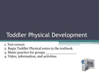 Toddler Physical Development