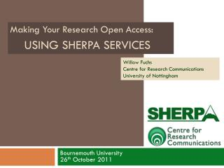 Using SHERPA SERVICES