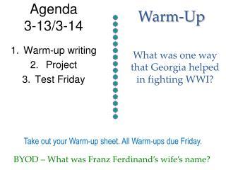 Agenda  3-13/3-14