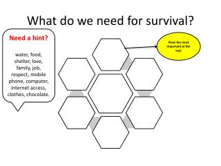 What do we need for survival?