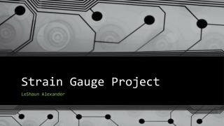 Strain Gauge Project