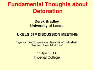 Fundamental Thoughts about Detonation