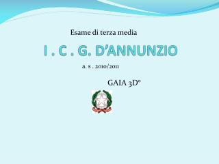 I . C . G. D'ANNUNZIO