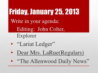 Friday, January 25, 2013
