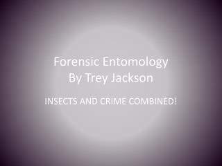 Forensic Entomology  By  Trey Jackson