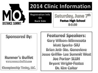 2014 Clinic Information