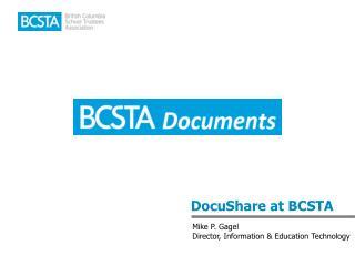 DocuShare at BCSTA