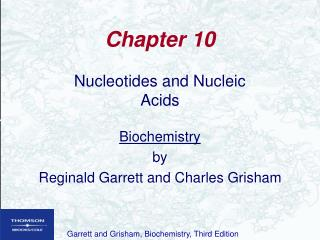 Nucleotides and Nucleic Acids  Biochemistry by Reginald Garrett and Charles Grisham