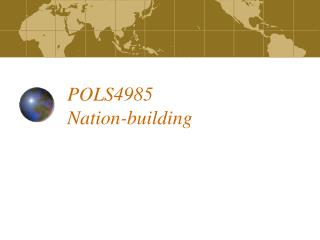 POLS4985 Nation-building