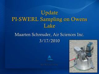 Update PI-SWERL Sampling on Owens Lake