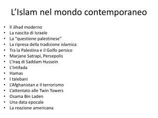 L'Islam nel mondo contemporaneo