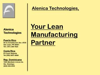 Your  Lean  Manufacturing Partner