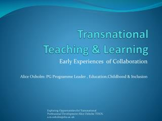 Transnational  Teaching & Learning