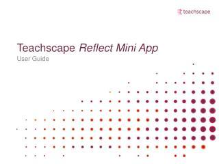 Teachscape Reflect Mini App
