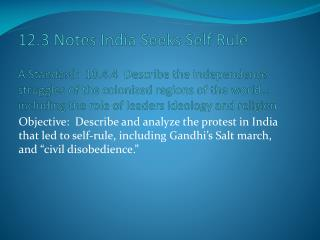 Chapter 12.3 India Seeks Self-Rule