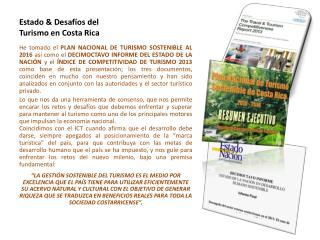 Estado & Desafíos del Turismo en Costa Rica