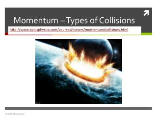 Momentum � Types of Collisions